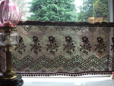 Nottingham Lace Cotton Cafe Curtain CN1k